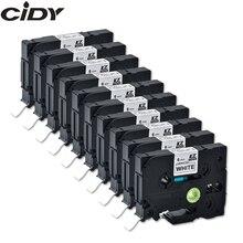CIDY 10 adet için uyumlu brother p touch 6mm tze lamine bant tze211 tze 211 tze 211 tz211 tz 211 etiket bantlar şerit kaset