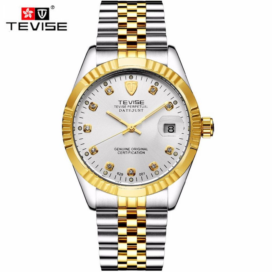 Tevise 2016 Orologio Uomo Montre Homme Men s Roman Number Day Watch Automatic Mechanical Watches Gift