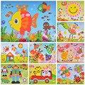 20 unids/set Pegatinas DIY 3D Pintura Dibujo Imagen pintada a Mano Creativa de Pasta Hecha A Mano de EVA Collage de Crianza Juguetes Juguetes de Los Niños