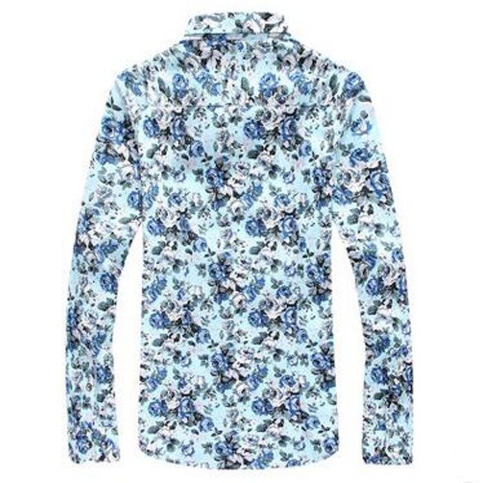 Nova blagovna znamka cvetlična majica s kratkimi rokavi majica z - Moška oblačila - Fotografija 3