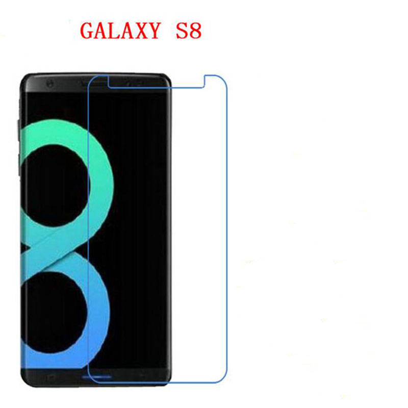 Wholesale Tempered Glass font b phone b font screen protector for Samsung Galaxy S8 NOT FULL