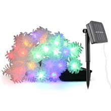 Солнечная коническая лампа 20 лампа креативный отель Бар Рождественская струнная лампа наружная водонепроницаемая цветная гирлянда