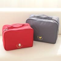 New Korean Waterproof Portable Travel Cosmetic Bag Large Capacity Folding Wash Bag Hooks 61818 01