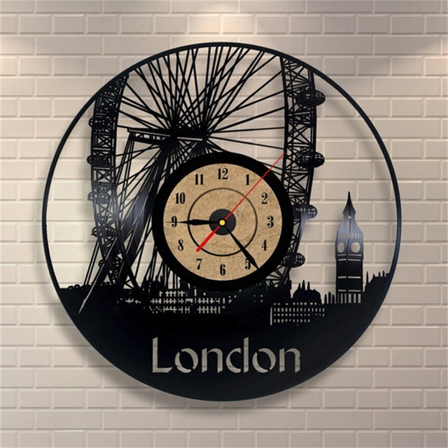 European Style Antique Wall Clock Large Decorative Vinyl Record CD Clock Fashion Home Decor Horloge Watch