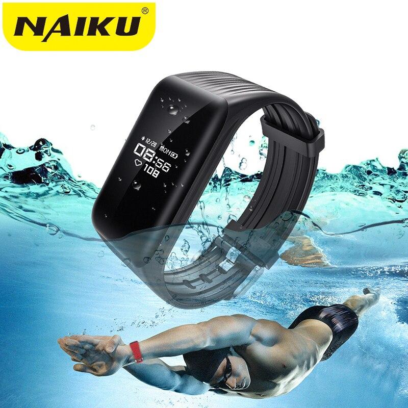 New Fitness Tracker Smart Bracelet en temps Réel Moniteur de Fréquence Cardiaque vers le bas à Sec IP68 Étanche Bande À Puce Activité Tracker PK S2