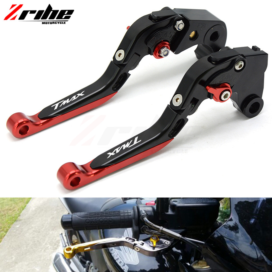 For Yamaha TMAX 500 TMAX 530 with LOGO CNC Adjustable Motorcycle Brake Clutch Levers 2008 2009 2010 2011 2012 2013 2015 2016