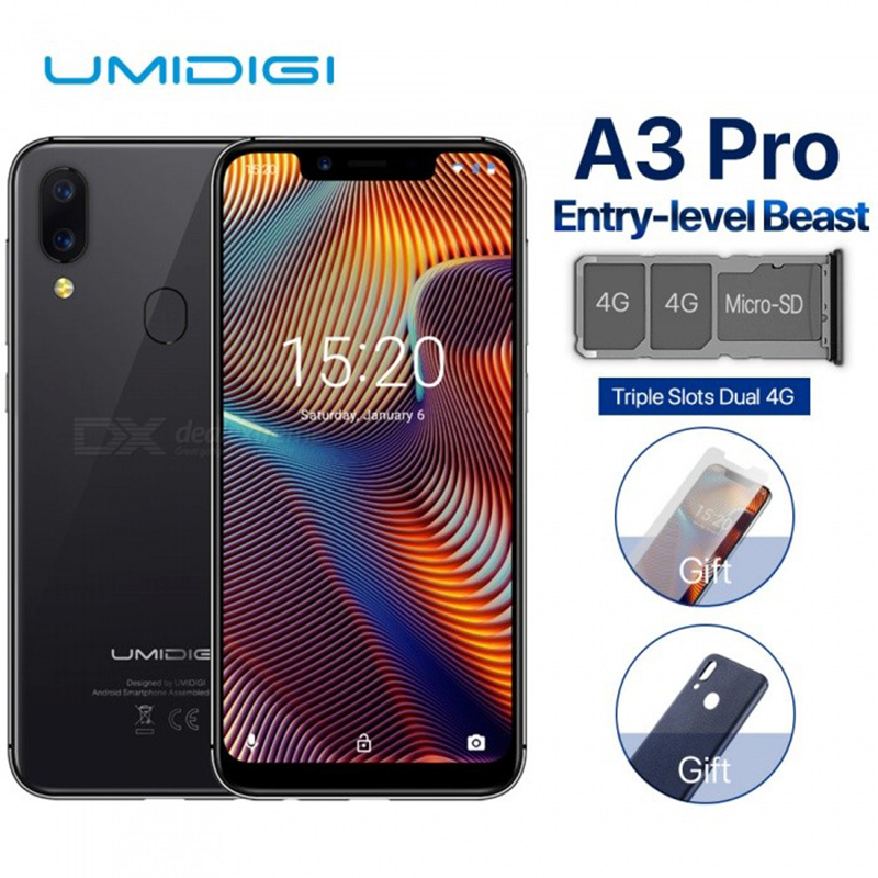 Image 3 - UMIDIGI A3 Pro Globale Della Fascia 5.7 FullScreen Smartphone 3GB+32GB Quad Core Android 8.1 12MP+5MP Unlock Mobile phone-in Cellphones from Cellphones & Telecommunications