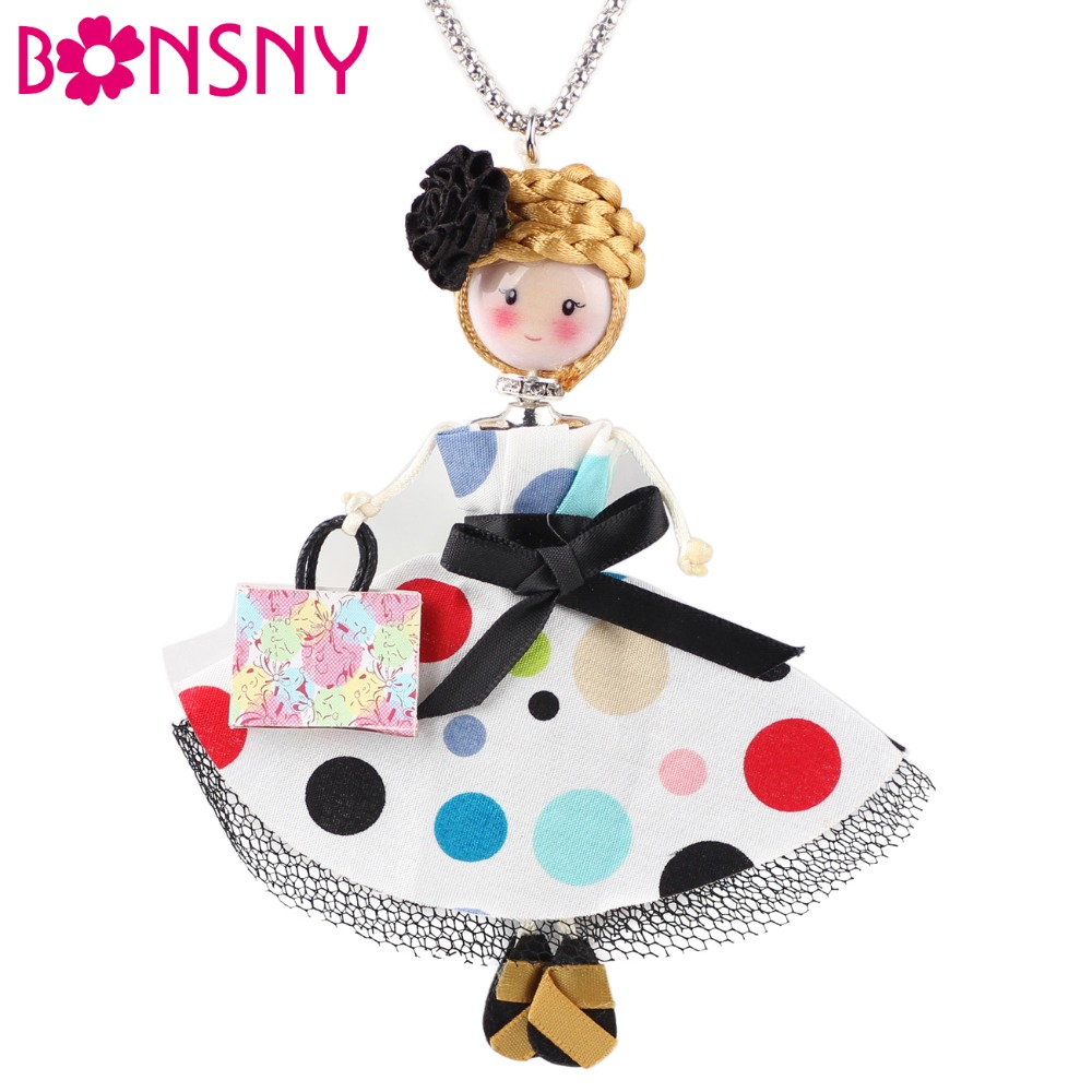 French bridesmaid dresses reviews online shopping french bonsny bridesmaid dresses doll necklace dress handmade french doll pendant 2017 news alloy girl women flower fashion jewelry ombrellifo Image collections
