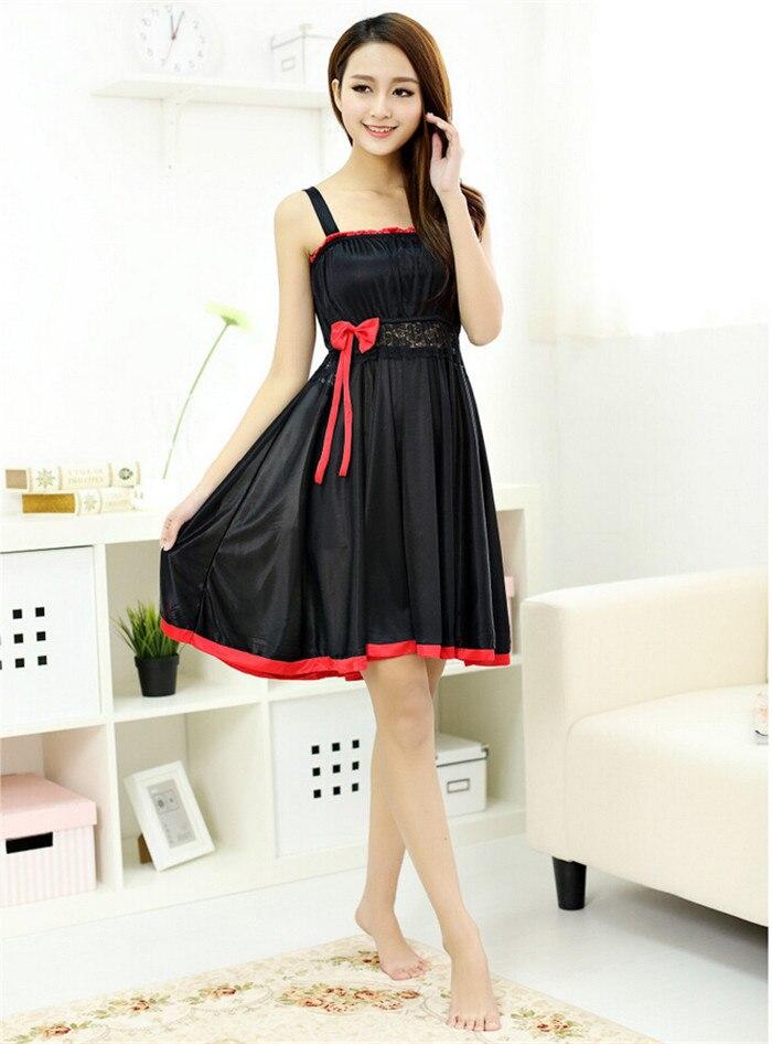 Beautiful White Pink Red Black Women Night Dress Sleepwear Women Summer  Colothes 883fff1bd4