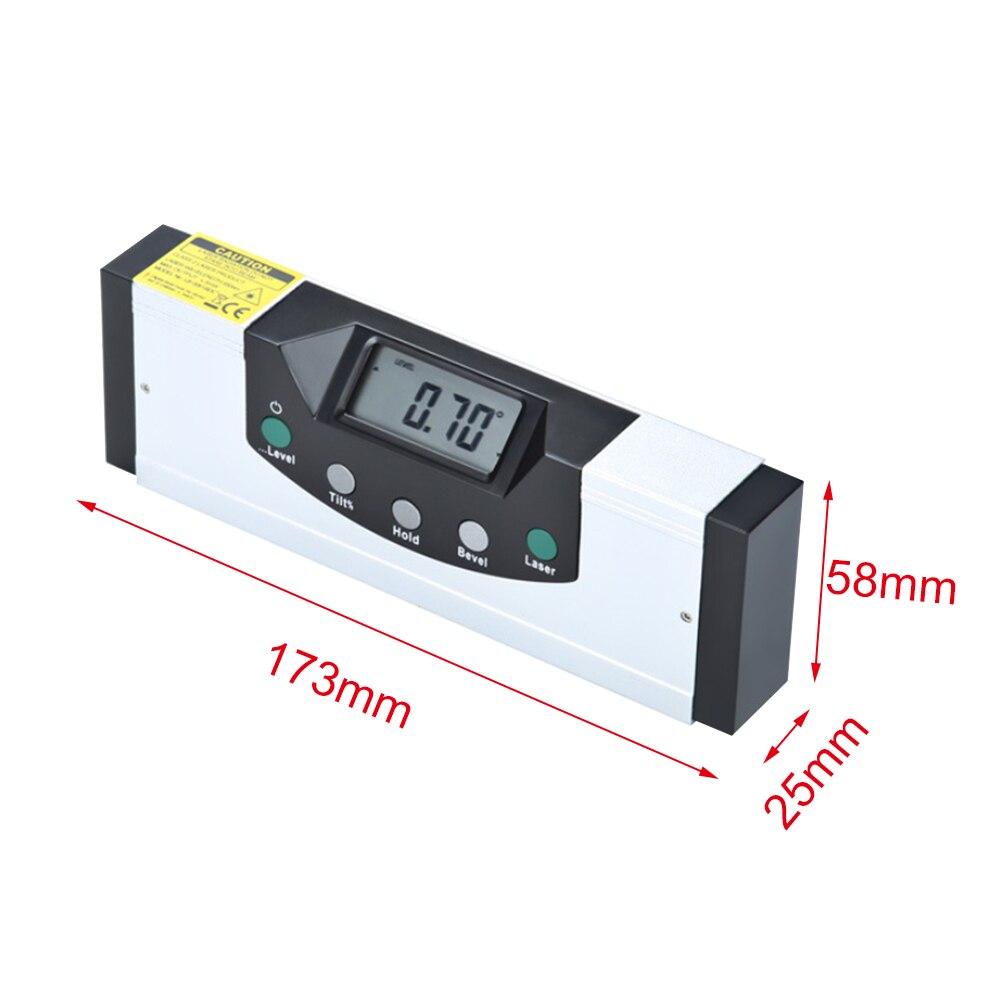 Règle de rapporteur d'inclinomètre vertical de niveau à bulle de niveau à bulle Mini Laser 150/225mm détecteur d'angle numérique de niveau à bulle numérique