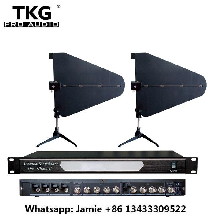 400 M UHF 500MHz 950MHz UA845 UA870 Microhone Splitter Collector Wireless Mic 4 channel wireless microphone