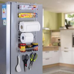 Kitchen Side Shelf Rack Sidewall Multipurpose Shelf Wall Hanging Storage Rack Multi-layer Holder Refrigerator Estante Fridge
