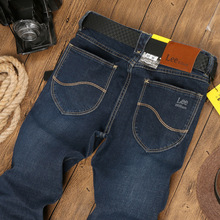 William Lee jeans Men's Fashion Brand Slim Straight Jeans Waist Young People Straight Slacks Quality Men Jeans