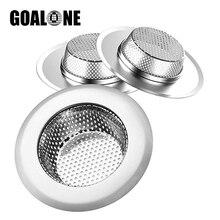 GOALONE 3Pcs/Set Hair Catcher Stainless Steel Bathtub Shower Drain Hole Filter Stopper Kitchen Bathroom Accessories
