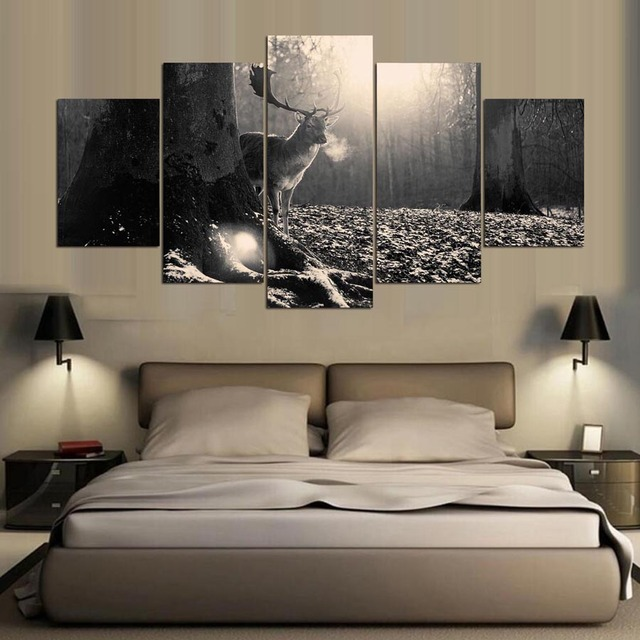 Moderno Blanco Arte De La Pared Enmarcado Fotos - Ideas de Arte ...
