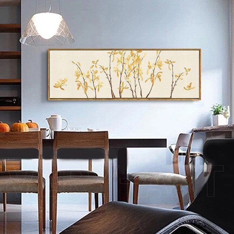 bedroom dining room living room decorated with modern chinese painting by chinese artist orchids roll long. beautiful ideas. Home Design Ideas
