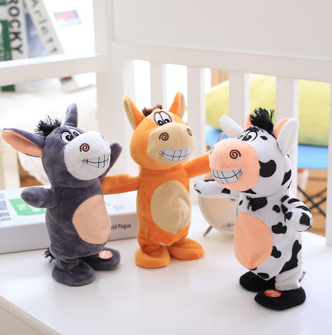 2017 Talking Cute Donkey Pet Plush Toy Hot Cute Speak Talking Sound Walking Educational Toy for Children Gift plush2-027