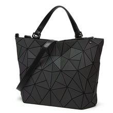 Neue Unregelmäßige Leucht sac baobao Tasche Frauen Bao Bao taschen Diamant Tote Geometrie Umhängetaschen Laser Einfachen Klapp Handtaschen bolso