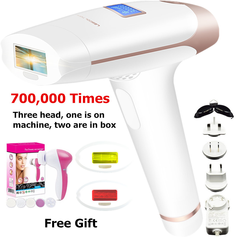 Electric Laser Hair Epilator LCD Display Depilador Permanent Hair Removal Device Laser Home 700000 Light Pulses