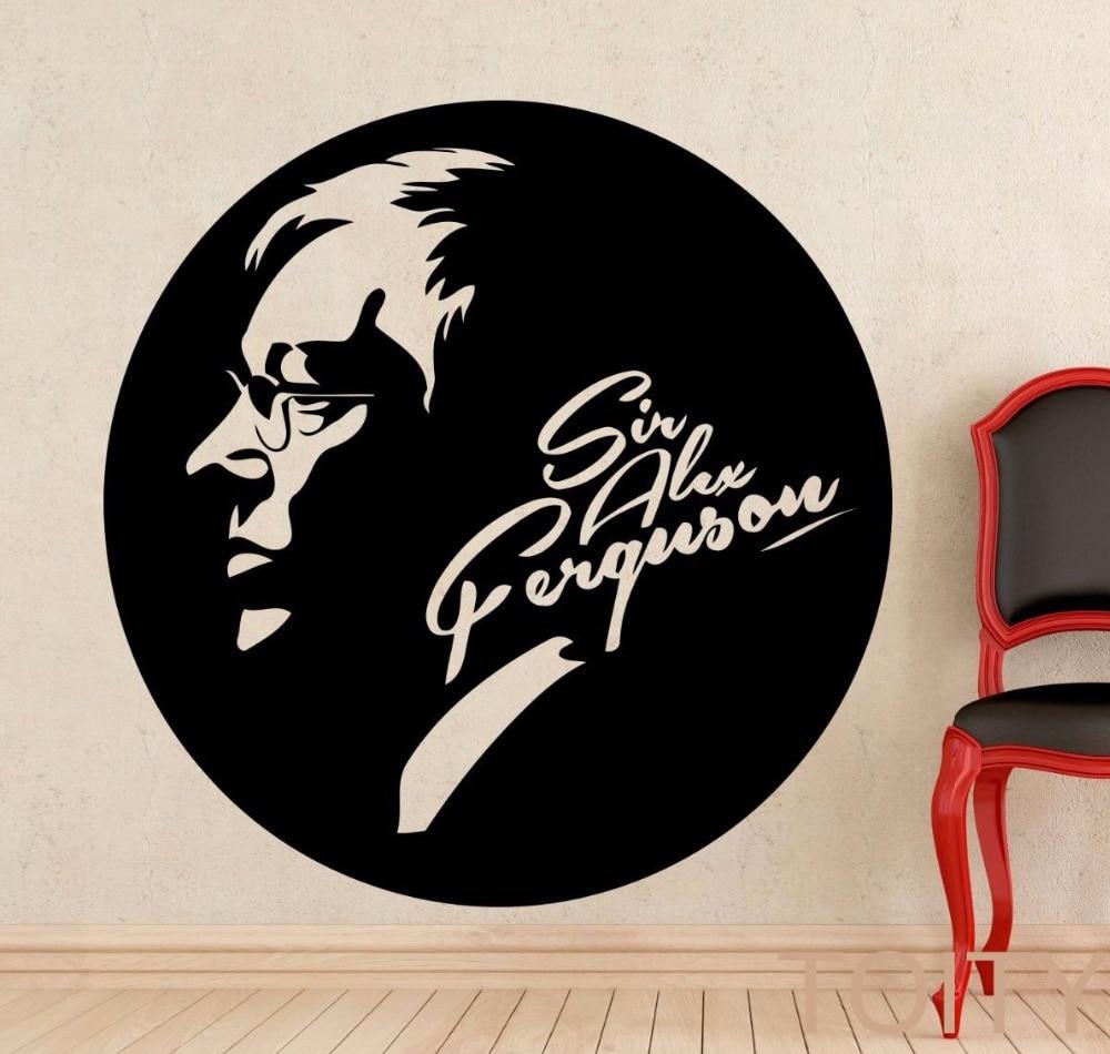 Hot Sale Sir Alex Ferguson Wall Sticker Famous Football Coach Vinyl