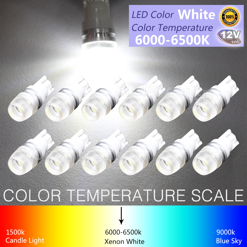 12X High Power T10 LED SamSung Light White Super Bright 1.5W W5W 194 192 168 DC 12V Auto Car Bulb Reading Light Lamp super bright white t10 w5w 50w 10 smd drl led bulb car auto wedge reverse signal light lamp 194 168 hot selling
