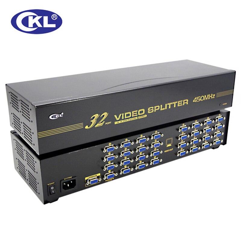 Display Tv Unterstützung 450 Mhz 2048*1536 Wir Haben Lob Von Kunden Gewonnen Ckl-932 Hohe Qualität 32 Port Vga Splitter 1*32 Für Projektor