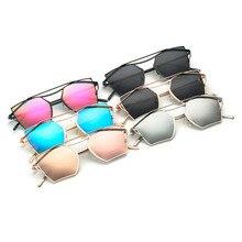 2017 Fashion Star Style Sunglasses Women Men Metal And Classic Eyebrows Luxury Polygon Elegant Sunglasses Oculos de sol