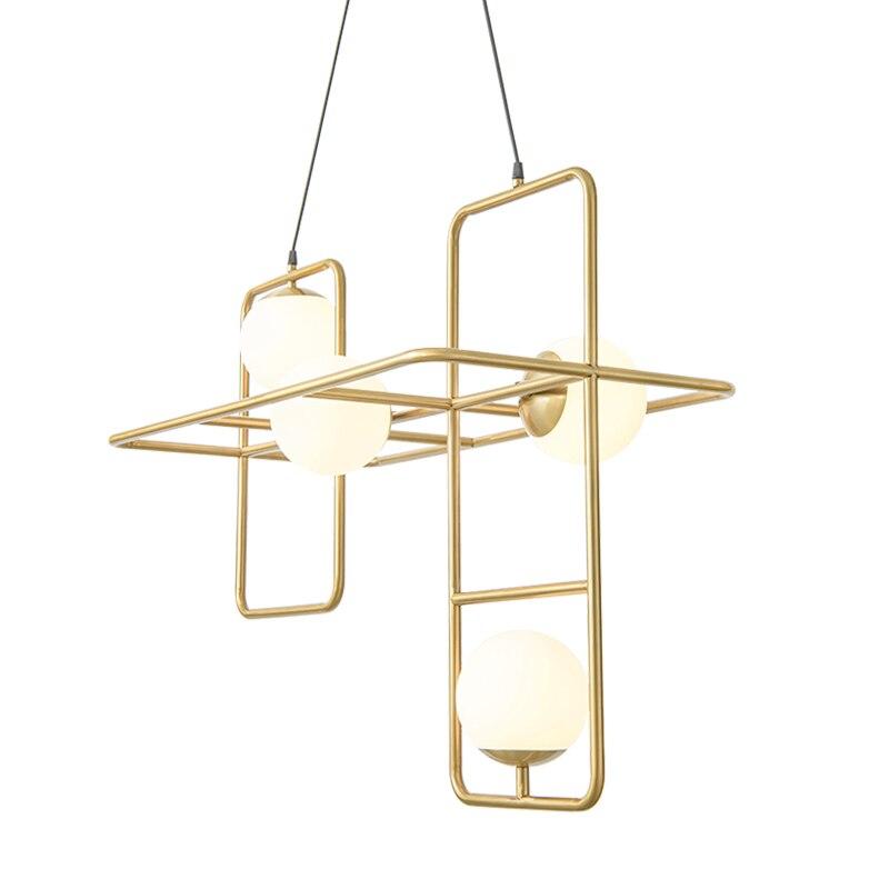 Nordique Moderne simple mode pendentif lumière salon salle à manger chambre lampes led fer creative art designer luminaire