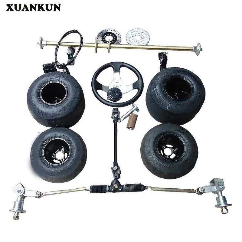 XUANKUN 168 accessoires modifié F1 dérive Kart avant et après la Suspension avant l'assemblage de l'essieu arrière avec des pneus de 5 pouces