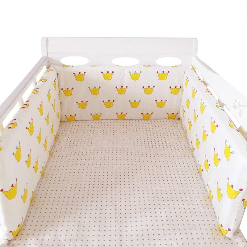 Simple Style U Shaped Baby Bed Bumper Detachable Cotton Crib Bumper Baby Nursing Crib Protector Pad Long Cot Bumper, 200*30cm