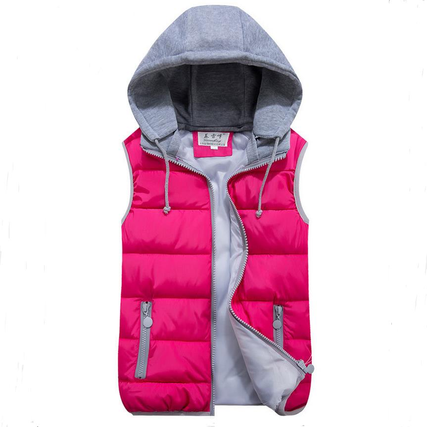Women's autumn and winter vest 2016 new Slim hooded cotton vest fashion female models down vest waistcoat vest