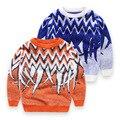 Nuevo Niño y Niña Suéter Impreso Buena Calidad Jersey de Invierno Niñas O-cuello Del Suéter Del Suéter de Algodón Niños Ropa Tops