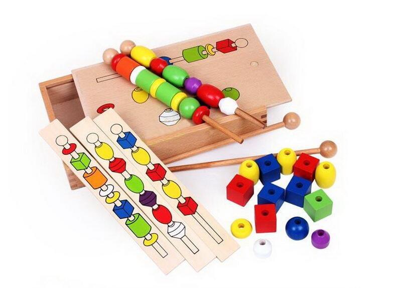 Montessori en bois Puzzle Intelligence Montessori enseignement jouets début d'apprentissage comptage jouet éducatif enfants enfants maths jouets