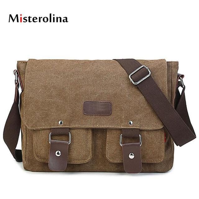 b00ef4f8cf1 Misterolina Canvas Briefcases Women s Bags Zipper Solid Unisex Business Men  Bag Flap Pocket Retractable File Bag torebki damskie