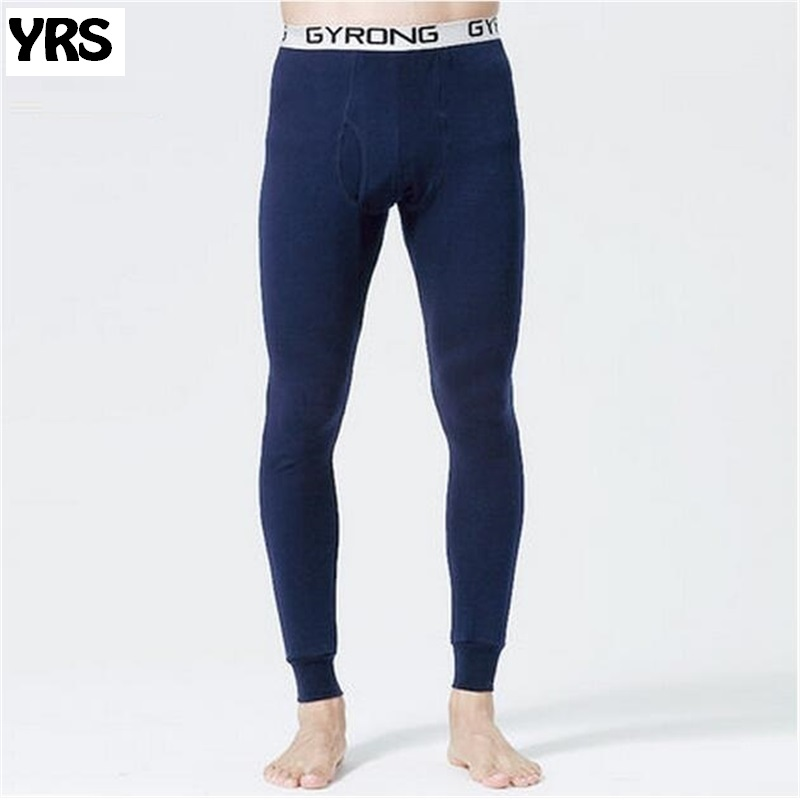 2016 new Autumn and winter Men long johns thermal underwear pants 7 colors