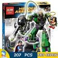 207 ШТ. Бела SY330 супергерои Супермен Против Power Armor Lex Wonder Woman Лутор Набор Строительный Кирпич Блоки Совместимые С Lego