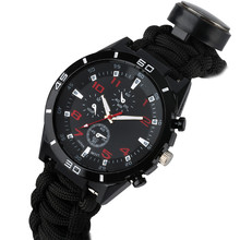 Multifunction Field Survival Outdoor Watch Men Military Para