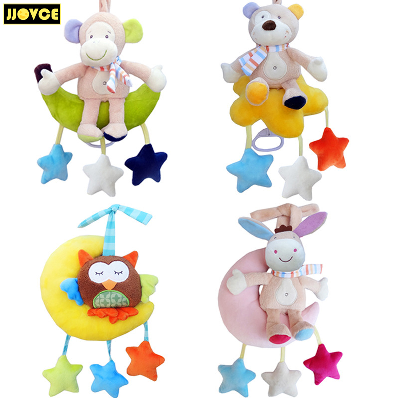 JJOVCE Baby Toys Rattles Baby Crib Playpen Hanging Toy Plush Doll Musical Rattle Educational Toys 0-12 Months Toys For Children