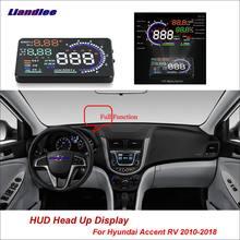 Liandlee автомобильный hud Дисплей для hyundai accent rv 2010
