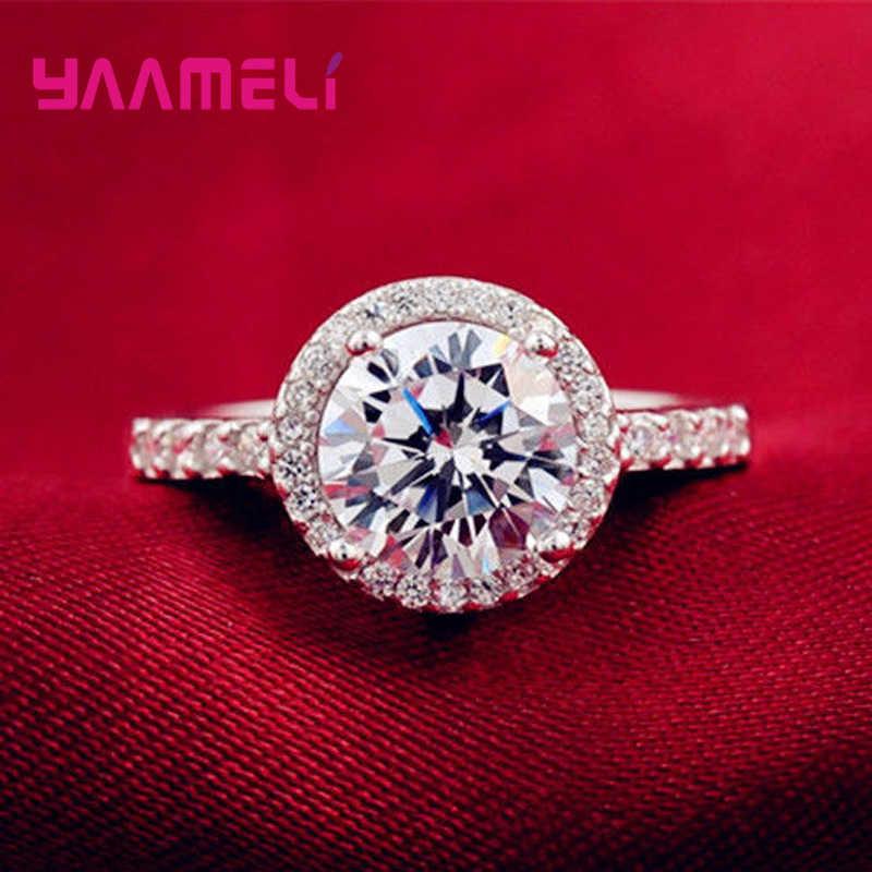 Lose Money 100% 925 пробы серебряные кольца для женщин Свадебные обручальные ювелирные изделия из Кубического циркония вечерние украшения
