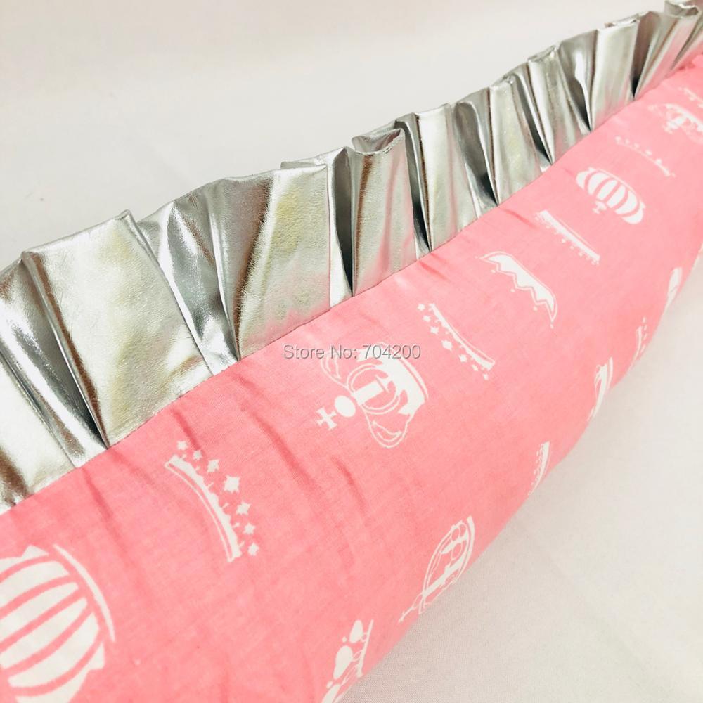 Единорог Зебра Розовый Черный волна Детские подушки детские кроватки бампер 200 см/300 см