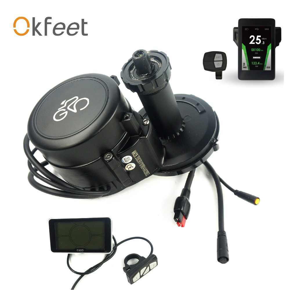 okfeet GP Midmotor 36V 350W 36V 250W Torque Sensor Speed Integrated Powerful Color LCD Display  Ebike Convertion Kit