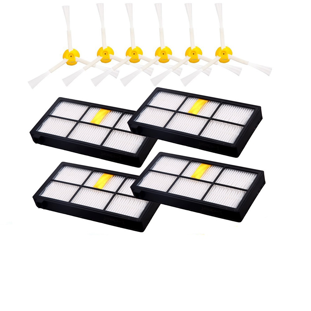 10PCS 3-armed Side Brush hepa filter For iRobot Roomba 800 870 880 960 980 Series Vacuum Cleaner parts robots 3 Arms Side Brush 3 arm side brush