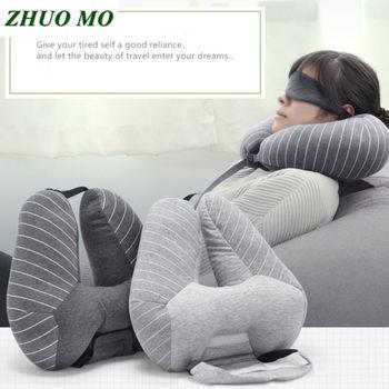 Nova Moda EM Forma de U Carro Pescoço Travesseiros + máscara de Olho da Manta Almofada Cintura Travesseiro de Viagem de Avião Carro Escritório sono casa Travesseiro de Pescoço