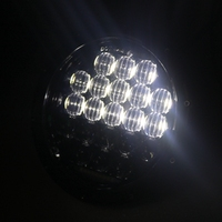 2PCS DOT SAE E9 75W 7 Inch 5D JEEPS LED Headlight With White DRL For Jeep