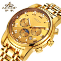 AESOP автоматические механические часы мужские наручные часы Топ бренд модные часы мужские водонепроницаемые мужские часы календарь Relogio ...