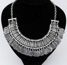 Vintage Maxi Statement Necklaces & Pendants Bohemian Coin Necklace Women 2017 Female Choker Collier Femme Boho Jewelry Bijoux