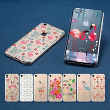 Coque Fashion Flamingo Texture Case for iPhone 6S Plus case XR Cases 7 5 5S SE 6 XS