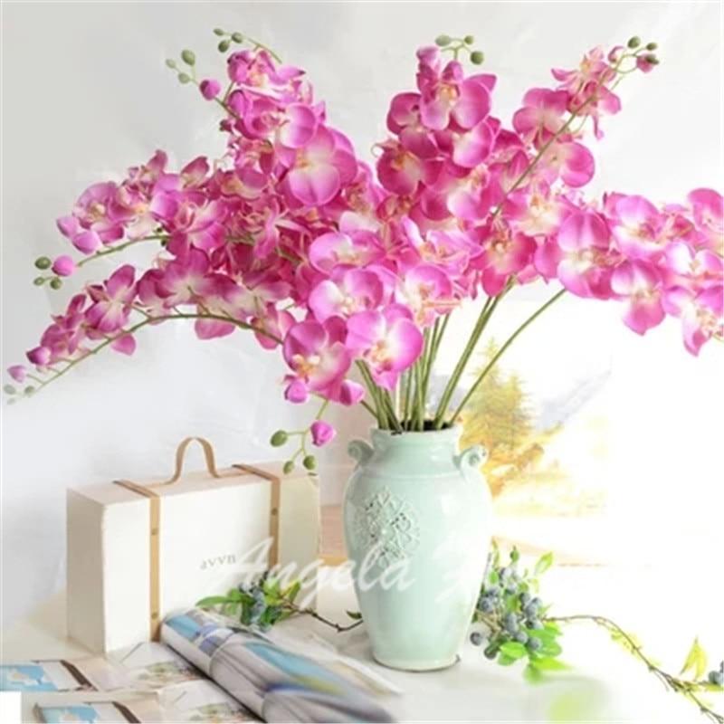 2015 NUEVA Natural Orquídea orquídea mariposa de la flor de seda artificial decorativa para nueva Casa