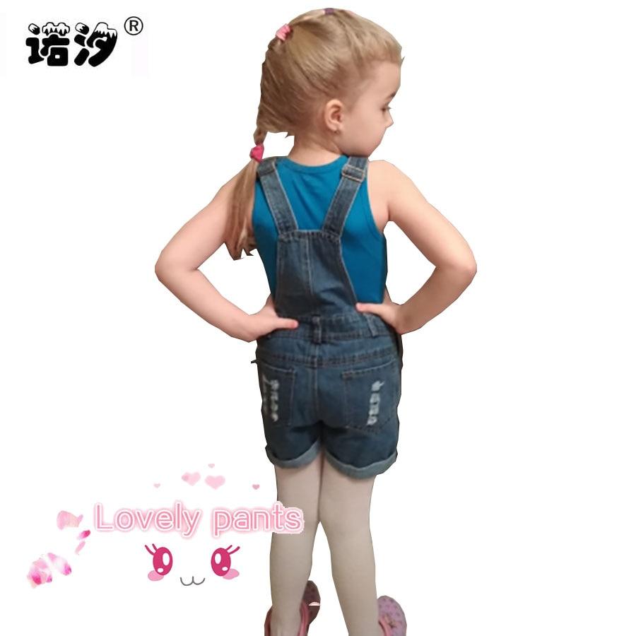 4-15 Y Mädchen Denim Overalls Frühling Sommer Mode Neue Kinder Kleidung Lässige Kinder strumpf hosen Solide Mädchen jeans kurze